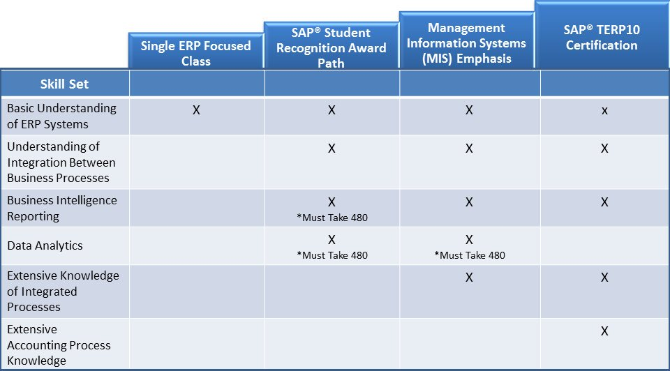 Careers Using Erp Systems The Seidman College Of
